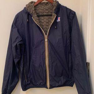 K-way reversible windbreaker jacket Japanese wave